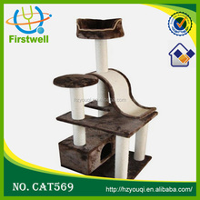2015 top quality banana leaf cat tree/deluxe cat tree