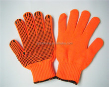 Factory outlet cotton knitting firm grip work gloves