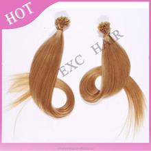 Peruvian vigin hair 100 cheap remy u tip hair extension wholesale