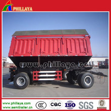 2 axles 20t - 30t side wall full cargo farm trailer (can be dump function)( 3 axles available)
