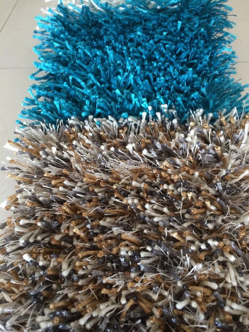 Hoogpolig hoogpolig tapijt polyester chinese knot+silk-tapijt ...