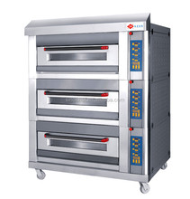 Advanced 3 layers 6 trays electric wire heating oven for bakery