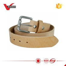 Natural Finish Full Grain Leather Belt with Roller Buckle 1.5''