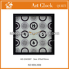 Stylish art painting wall clock for bedroom decoration