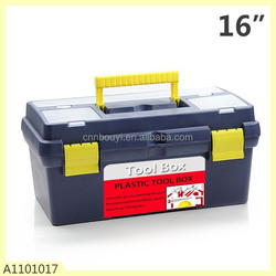 high quality 16 inches plastic tool case with handle