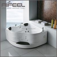 Aifeel modern luxurious indoor portable bathroom acrylic freestanding 2 person small massage whirlpool bathtub