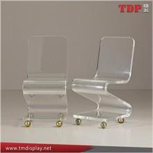 2015 modern design high quality clear bar chair