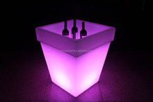 wireless remote control commercial furniture led flash flower tray