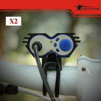 Solarstorm X2 led bicycle light with rubber ring and battery pack