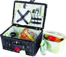 China wholesale wicker fruit basket with cooler bag