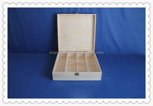 Simple high quality wooden wine bottle box with compartment