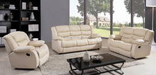 Italy style sitting room real leather recliners with electric controls SF3612#