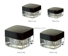 Square Cosmetic Acrylic Jar for Skin Care Cream