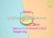 wholesale rbag fittings round16-2mm hidden magnetic button with cap