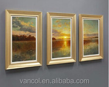 Custom cheap china acrylic landscape paintings on canvas