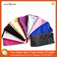 Super Absorption 100% Polyester Plain Dyed Terry Sports Towel Retailling