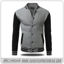 leather sleeve custom baseball jackets,wholesale blank baseball jacket