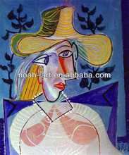 Expressional picasso painting handmade on linen canvas