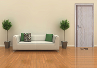 SC-P002 Double Leaf modern oversized wood entry doors