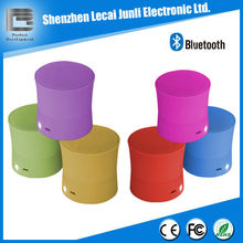 Portable mini bluetooth speaker with microphone