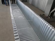 corrugated metal trough