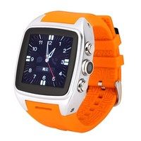 Wholesale Excellent Silicon Android 4.2 O.S Smart Bluetooth Watch 2G/3G Smart Watch Phone GPS Pedometer Camera and Heart Rate