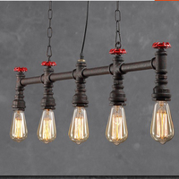9.19-29 Water Pipe Pendant Light With bulbs/Oriental Lighting Pendent Light Industrial