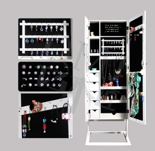 large full length long free standing mirrors jewelry armoire lockable