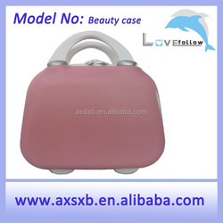 ABS waterproof oil proof ABS+PC professional makeup trolley case pink beauty trolley case