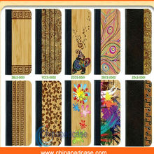Hard case for Apple phone,Bamboo&wooden leather case for Samsung S4
