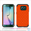 New Design Strengthen Phone Cover for Galaxy S6 Edge, Amor Case PC Silicone CellPhone Bag for Samsung Galaxy S6 Edge