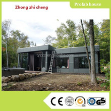 luxury prefab house with light steel structure made in China