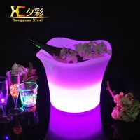 LED Glowing Champagne Ice Cooler Night Club Table Beer Bucket