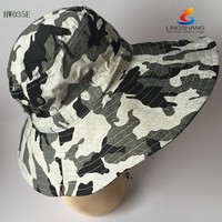 2015brand outdoor activities Military Fishing Bucket Cap Camping Hiking Wide Brim Camouflage Sun Hat
