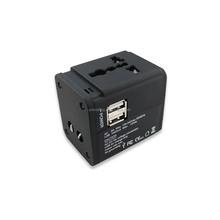 US, USA, EU, UK travel plug with 2 USB ports