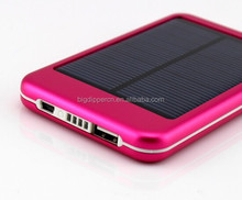 5000mAh full capacity mobile solar power bank charger