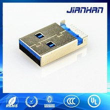 low price usb 3.0 sinking connector, high speed usb 3.0 male connector, usb 3.0 connectormade in china