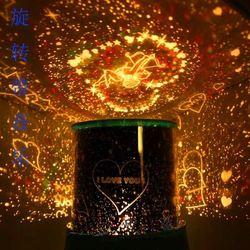 LED star light projection lamp rotating night light music stars Cupid birthday gift