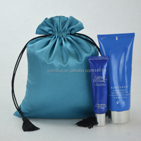 orange high quality drawstring satin bags wholesale