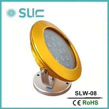 Hot sale 23W 24V 180 rotating color led underwater light for swimming pool(SLW-08A)