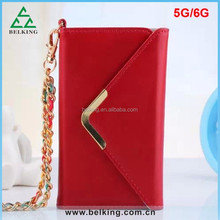Large Capacity Women Cellphone Handbag Case For iPhone 6 6s 6 Plus 6S Plus With Colorful Chain Leather Phone Case Bag