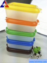 Multi-color 128*105*65 PP micro-use safe Plastic Lunch Box / Plastic Container