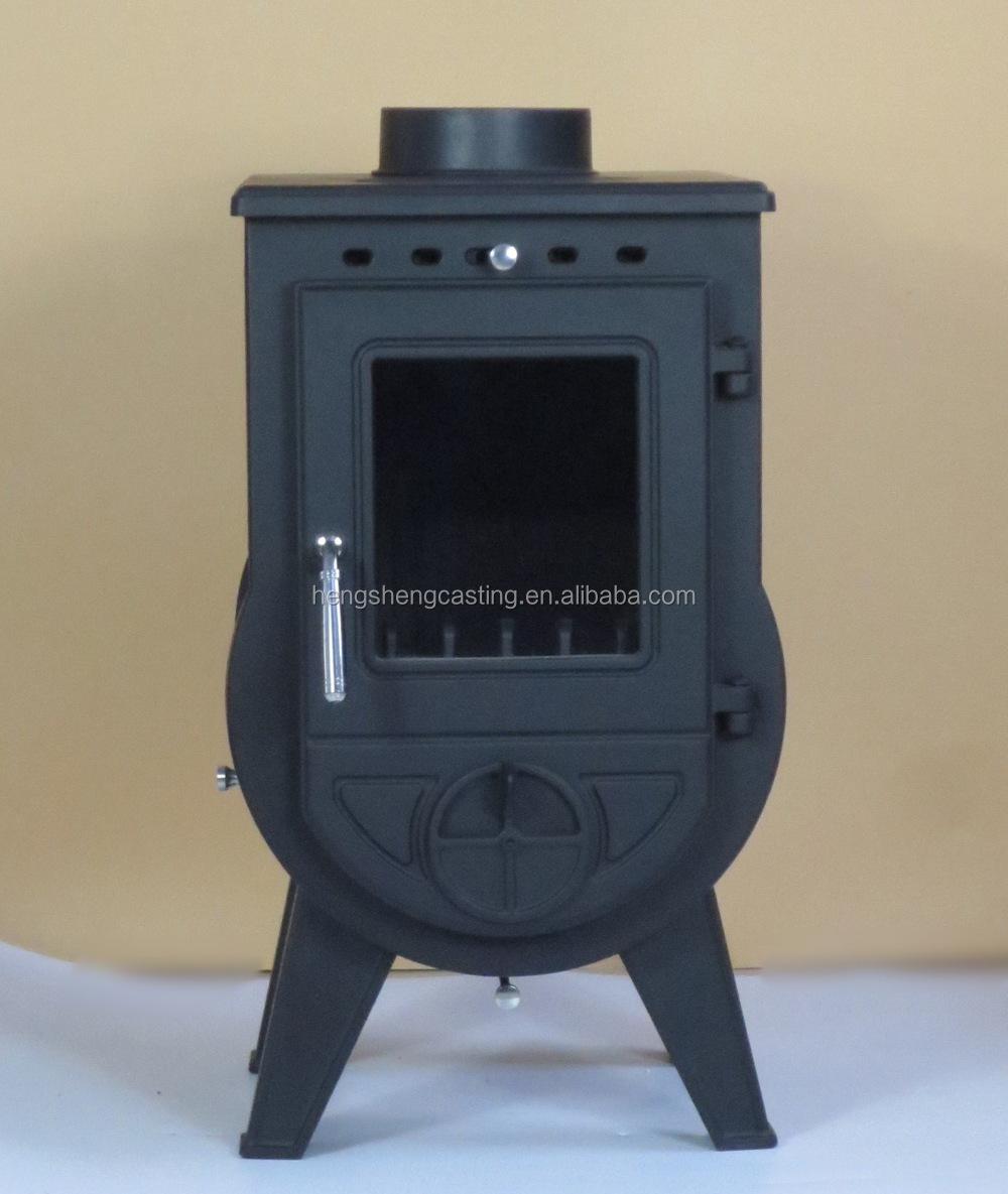 Cast Iron Glass Door Wood Burning Stove Parts Heating Area 90