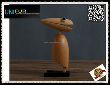 Popular normal gift 18cm height beech decorative woodpecker
