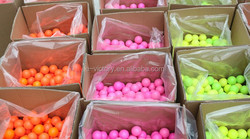 New Bulk Two Piece Conformation 80-90 Hardness Colored Training Golf Balls