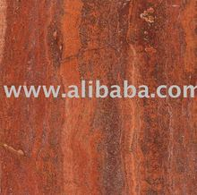 Persian Red Travertine- Vein Cut
