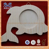 antique wooden photo frame with fish shape