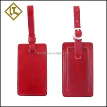 High quality colourful leather Golf bag tag,hard leather airplane luggage tag