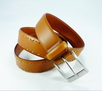 2015 Fashion High Quality Pin buckle genuine stitching leather belt