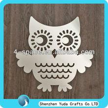 Owl shaped mirrors acrylic custom mirror for decorations